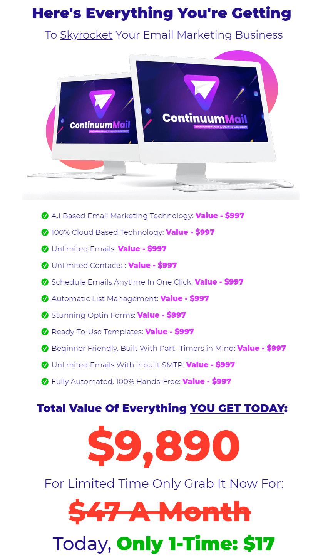 ContinuumMail-price